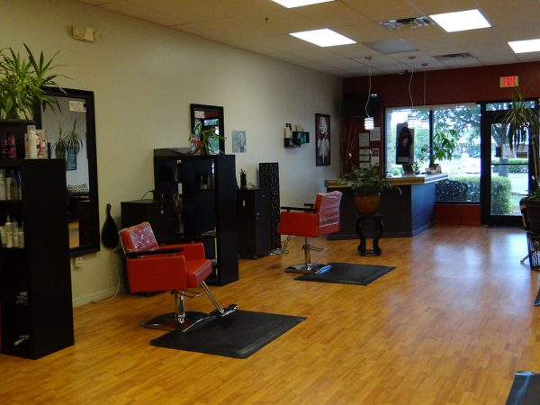 Hair Salon Facing Front Desk