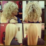 Before and After Keratin Hair Treatment in curly Blonde