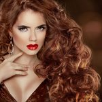 Hair Extension Curly Long Style in Beautiful Red Head