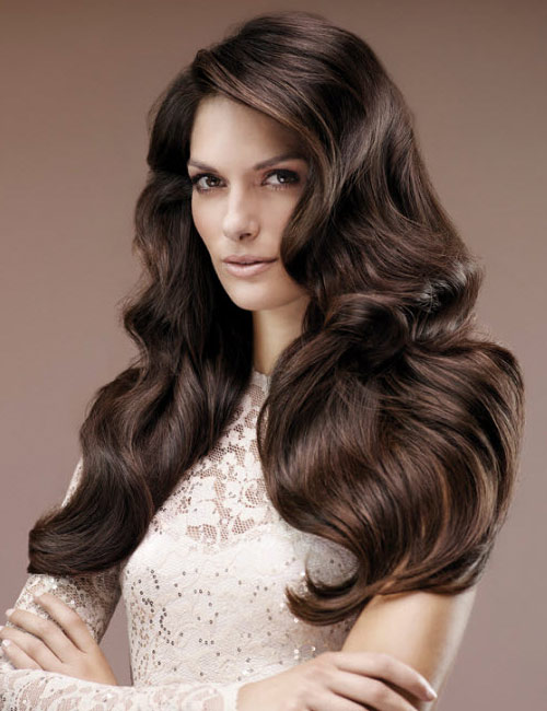Hairdreams Brunette Long Body Wave Style